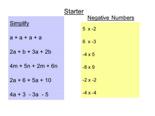 Expanding double brackets introduction positives only.