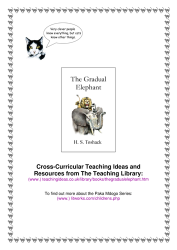 'The Gradual Elephant' Cross-Curricular Teaching Ideas and Resources