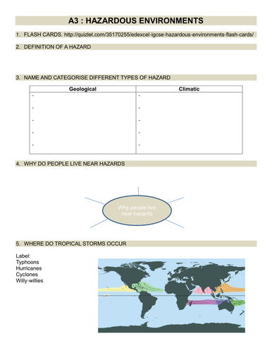 Edexcel IGCSE Geography revision booklets