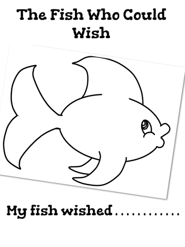 The fish who could wish colouring sheet by jnsoper