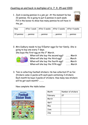 Division word problems using times tables by PeterTAEdwards ...