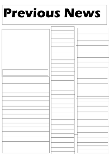 Newspaper Template Ks2 By W100e100 Teaching Resources Tes