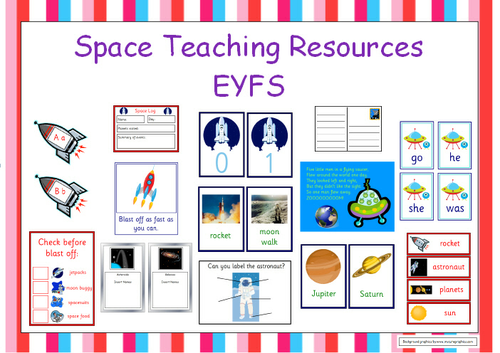 EYFS Space Teaching Resources - Set of 10