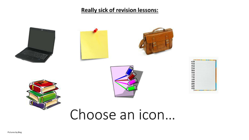 'Sick of Revision' last 6 lessons for any subject or topic.