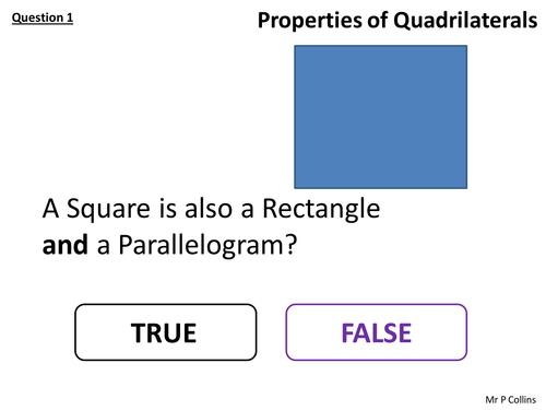 Properties of Quadrilaterals Plenary