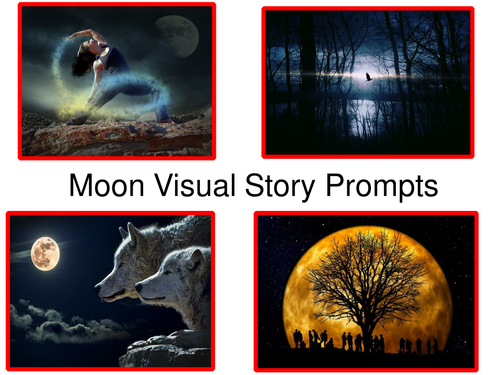 Moon Visual Story Prompts