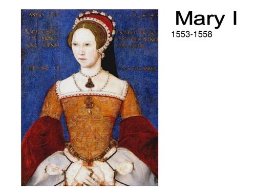 Mary Tudor Unit PowerPoint