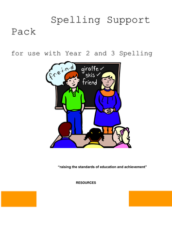 Phonics spelling resource pack