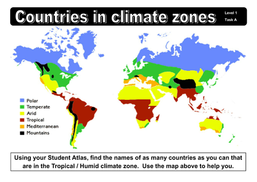 Geography Climate and Biome Starter Tasks by dazayling  Teaching