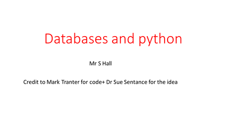 how to create a database in python using sql lite 3
