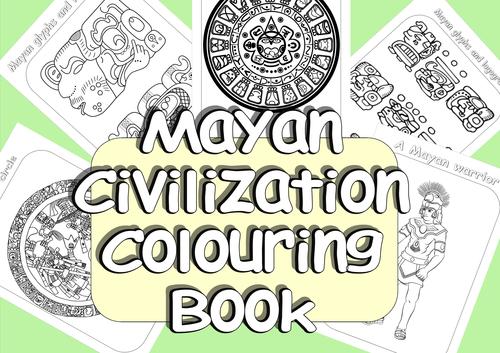 Mayan Civilization Colouring Book