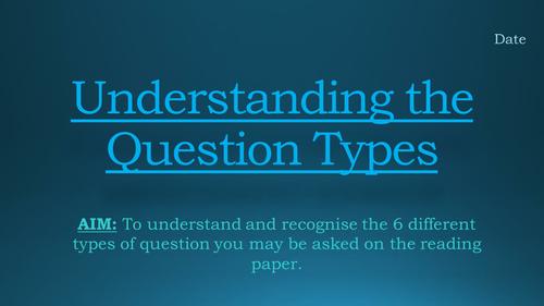 GCSE English Language - Reading Exam Question Types
