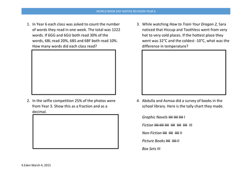 Maths Revision for Year 6