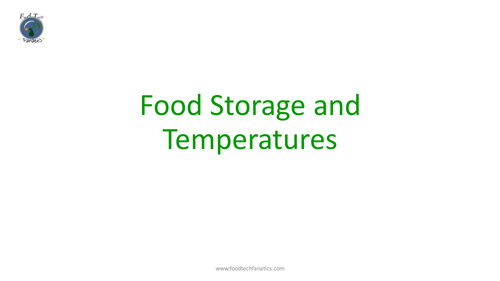 Y7 L1 Food Storage and Temperatures Solo Lesson Pack