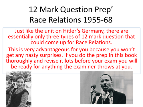AQA - 12 Mark Q Improvement Tool (Race Relations)