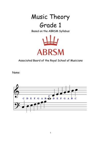 Grade 1 music theory by jmedler - Teaching Resources - Tes