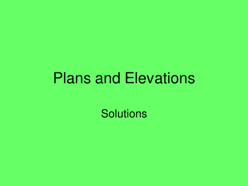 Plan Elevation Tes : Ks worksheet plans and elevation by bcooper uk
