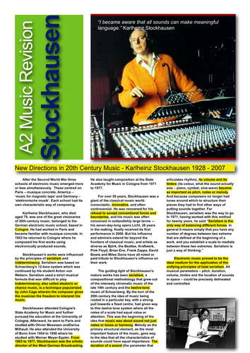 Stockhausen Revision Factsheet