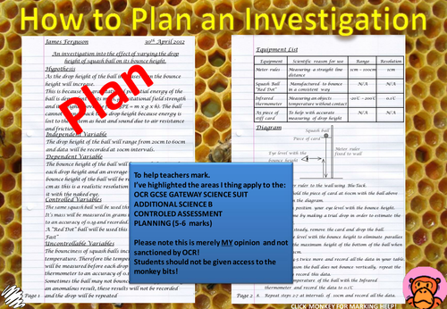 How to plan an investigation.