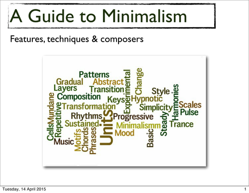 A Guide to Minimalism