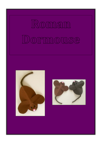Romans Dormouse Craft Activity - Latin, Romans History Topic