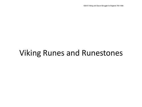 Viking Runes and Runestones