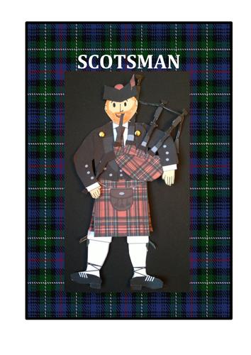 Scotsman - Burns' Supper, New Year, Hogmanay Craft Activity
