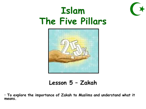 Five Pillars lesson 5 - Zakah