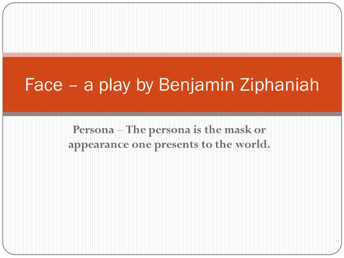 Face the play - a ppt for WJEC unit 3 exam