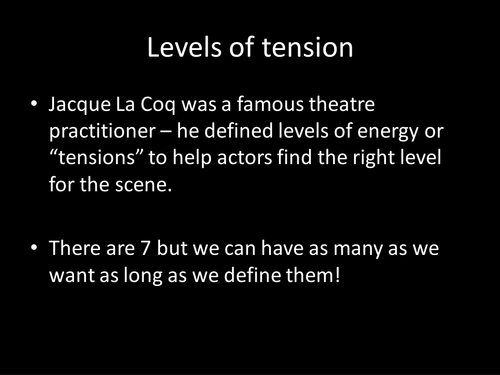 Le Coq's Levels of tension