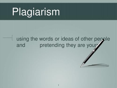 PSHE: Plagiarism