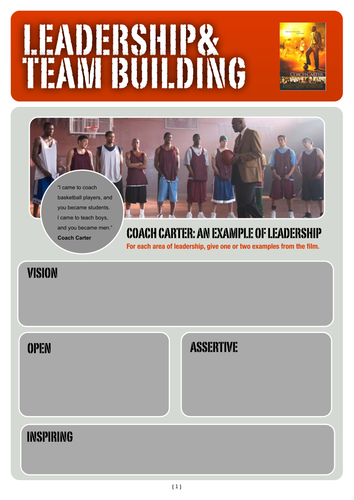 PSHE: Leadership and Team building