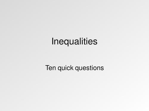 Inequalities.  Maths KS3 KS4 Activities, quiz, worksheet and more