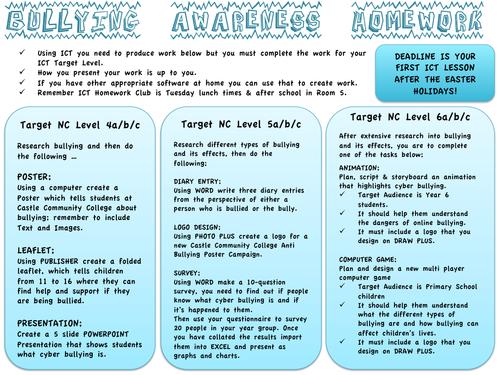 Bullying Awareness Homework Project