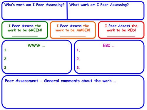 Peer Assessment Form