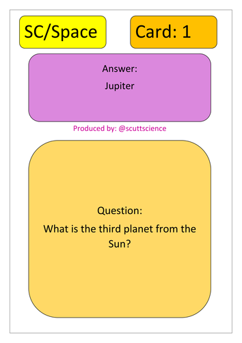 Earth and space loop cards - planets, stars, orbits, years, days, seasons