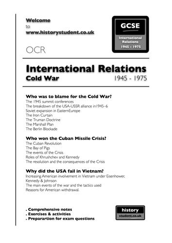 Pre 2016: OCR GCSE History: Cold War 1945 - 1975