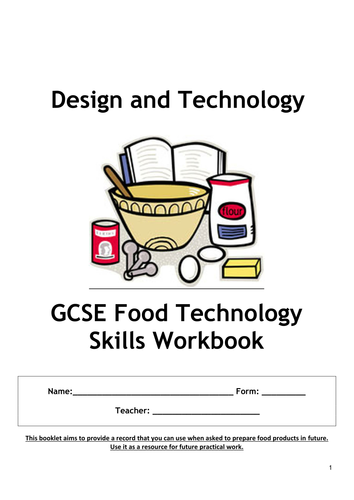 Gcse Food Technology Recipes Year