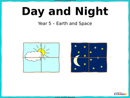 Night and Day - PowerPoint Presentation and Worksheet by ...