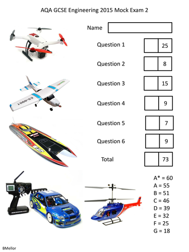 Mock Exam AQA GCSE Engineering 2015