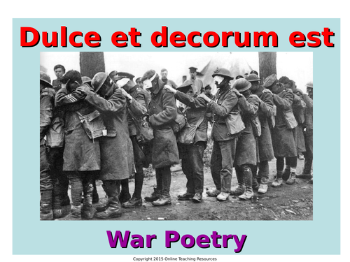 a portrayal of horrid and devastating war in dulce et decorum est by wilfred owen A literary analysis of dulce et decorum est dulce et decorum est by wilfred owen dulce et decorum est, owen's superb the horrors of war owen uses.