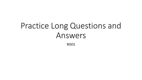 Cambridge Nationals R001 Exam Revision Questions