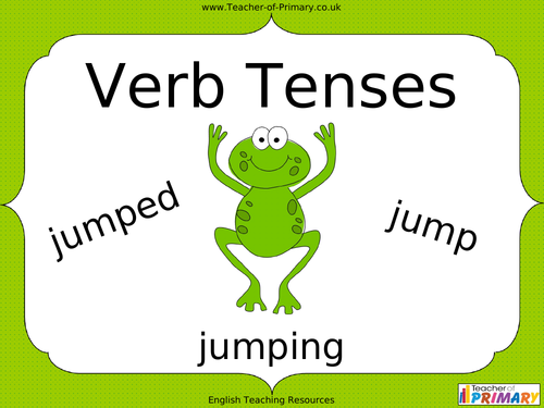 Free powerpoint presentations about verb tenses for kids.