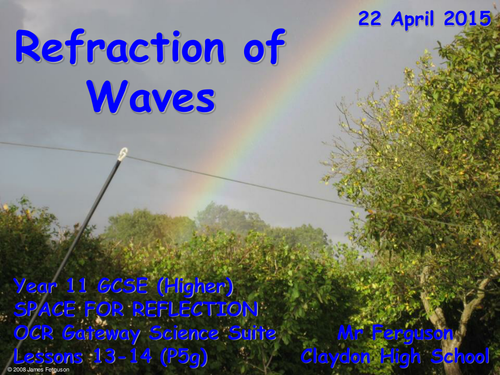 P5g Refraction of Waves