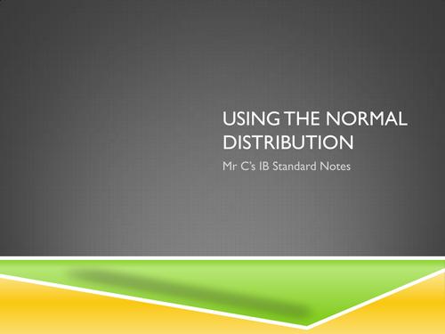 IB Standard Normal Distribution Revision Notes