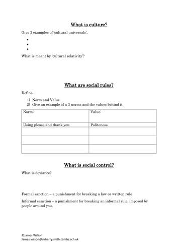 Understanding Social Processes GCSE WJEC Sociology Revision Book