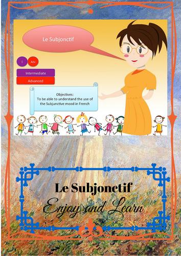 Subjonctive Mood (French) Booklet / Le subjonctif ( français )