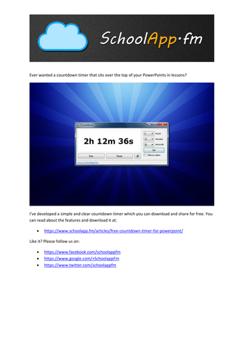 Countdown Timer by ed_clarke | Teaching Resources