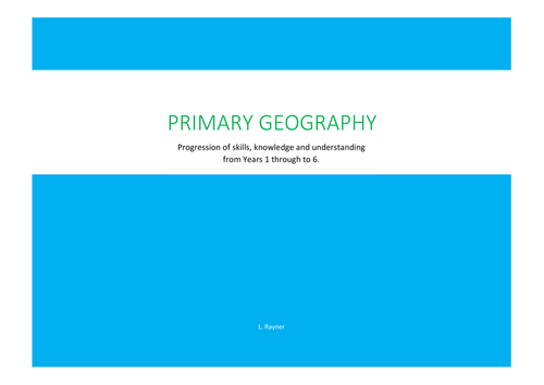Geography Skills, Knowledge and Understanding Progression Document