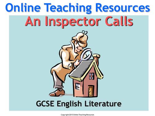 gcse english inspector calls essay